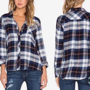 RAILS Hunter Flannel Plaid Button Down Top Shirt